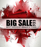 Big Sale Best Discoount in time web banner for shop sales promotions Royalty Free Stock Image