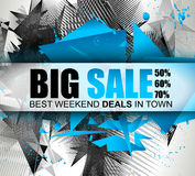 Big Sale Best Discoount in time web banner for shop sales promotions Royalty Free Stock Photos