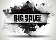 Big Sale Best Discoount in time web banner for shop sales tag Royalty Free Stock Image