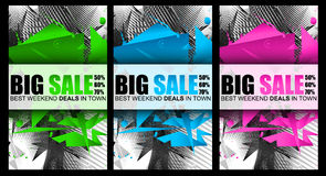 Big Sale Best Discoount in time web banner for shop sales tag Stock Photos