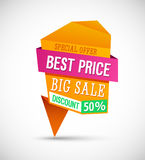Big Sale Best Price Banner. Stock Images