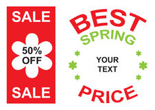 Big sale and best spring price announcement  Stock Image