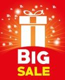 Big sale big gift light red background. Vector illustration eps 10 Stock Image