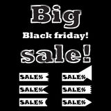 Big sale on black friday. Royalty Free Stock Photos