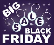 Big sale, black friday billboard with exploding bomb Royalty Free Stock Images