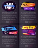 Big Sale 2017 Black Friday Discounts New Offer Advert Stock Photography