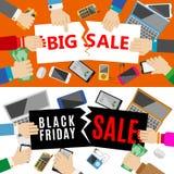 Big sale. Black friday sale flat design template. Vector illustration EPS 10 Royalty Free Stock Images