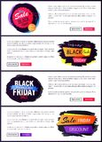 Big Sale Black Friday Website Vector Illustration Stock Photos