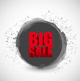 Big sale black ink paint business sign Stock Photography