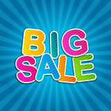 Big Sale Blue Poster Stock Images