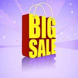 Big sale, bright, colorful banner for your Stock Images
