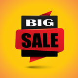 Big sale bubble banner in black and red colors Stock Photos