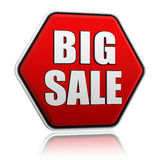 Big sale button Royalty Free Stock Image