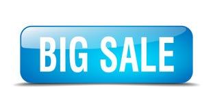 Big sale button. Big sale square 3d realistic isolated glass web button. big sale Stock Photo