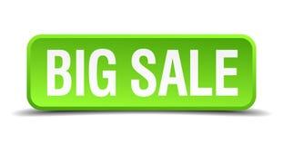 Big sale button. Big sale square 3d realistic isolated web button. big sale Stock Image