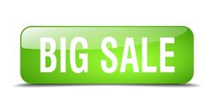 Big sale button. Big sale square 3d realistic isolated glass web button. big sale Stock Images