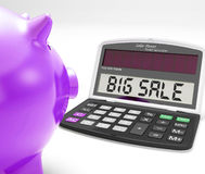 Big Sale Calculator Means Huge Special Stock Photo