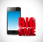 Big sale cellphone business sign Royalty Free Stock Image