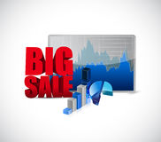 Big sale charts business sign Stock Images
