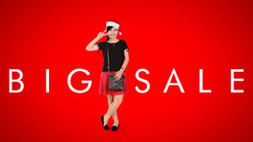 Big Sale, Christmas ad background Stock Photography