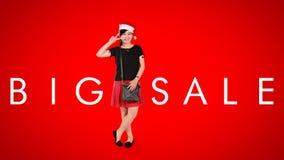 Big Sale, Christmas ad background Stock Photography