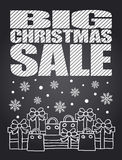Big Sale Christmas chalkboard card Royalty Free Stock Photos
