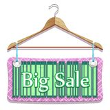Big Sale Clothes Hangers Stock Images