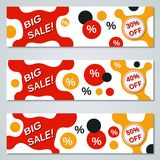Big sale colorful banners vector templates Royalty Free Stock Photo