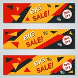 Big sale colorful banners vector templates Stock Image