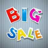 Big Sale Colorful Stickers. On Retro Background Royalty Free Stock Photos
