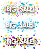 Big sale colour banners. Stock Photo