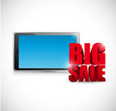 Big sale computer tablet business sign Royalty Free Stock Photography