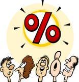 Big sale concept cartoon illustration Stock Photography