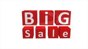 Big sale concept 3d animation, store, mart, shopping, season. stock footage
