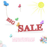 Big sale concept in doodle style Royalty Free Stock Photography