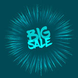 Big sale concept with fireworks effect Stock Photo