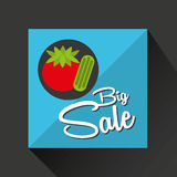 Big sale concept juicy tomato. Vector illustration eps 10 royalty free illustration