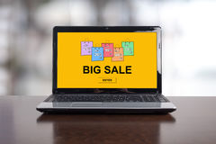 Big sale concept on a laptop Royalty Free Stock Photo