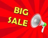 Big sale. Concept of big sale megaphone 3d rendering Stock Image