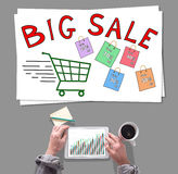 Big sale concept placed on a desk Stock Photo