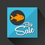 Big sale concept seafood fresh fish. Vector illustration eps 10 Royalty Free Stock Images