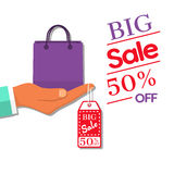 Big sale concept. Royalty Free Stock Photo