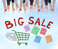 Big sale concept on a wall Royalty Free Stock Images
