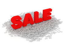Big Sale Concept on white background Stock Photo