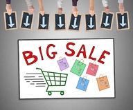 Big sale concept on a whiteboard Stock Images
