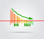Big Sale - Conceptual Illustration Royalty Free Stock Photos