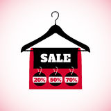 Big Sale creative label on white background. Royalty Free Stock Photo