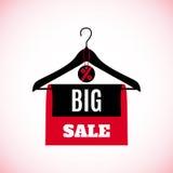 Big Sale creative label on white background. Stock Photos