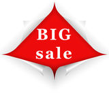 Big sale curled corners Royalty Free Stock Photo