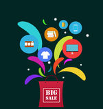 Big sale. And cut off the price royalty free illustration